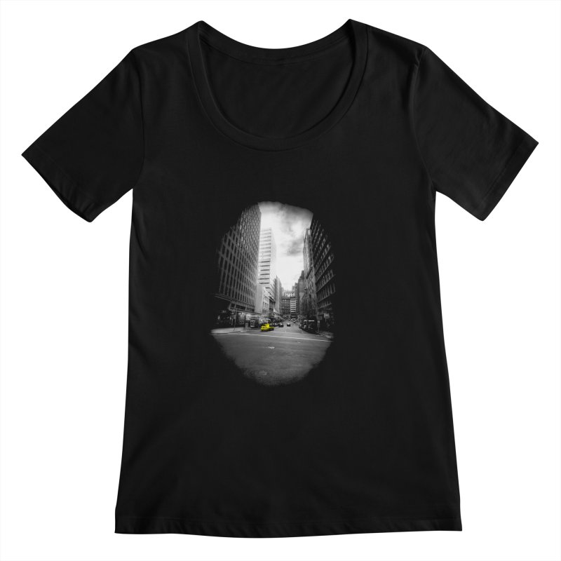 I could be anywhere in the world Women's Scoopneck by jwoof's Artist Shop