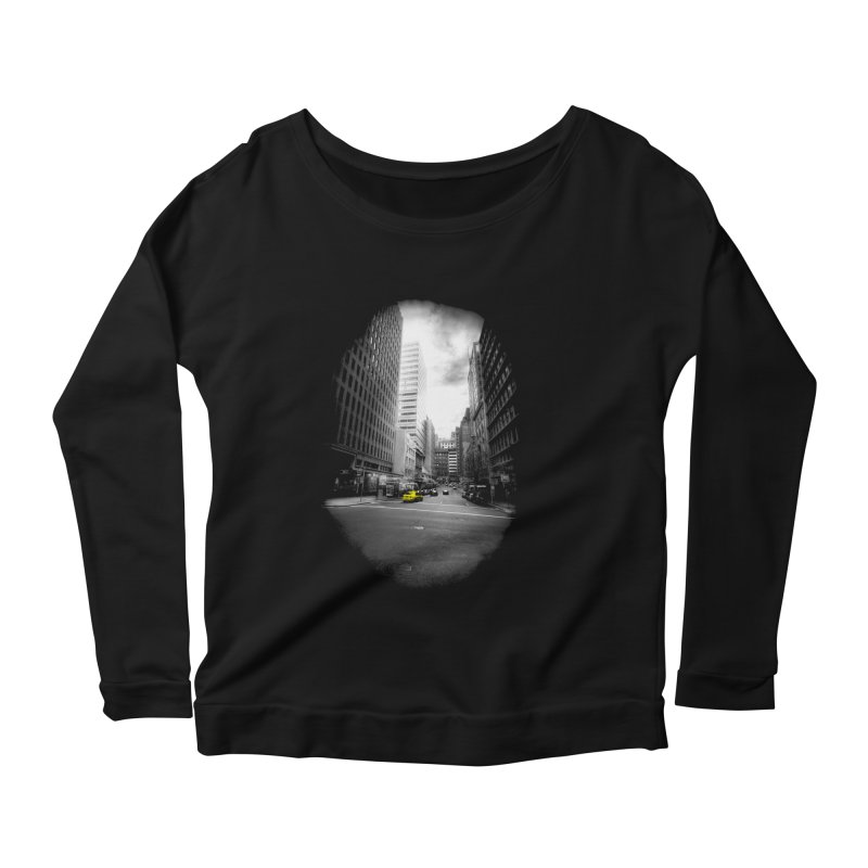 I could be anywhere in the world Women's Scoop Neck Longsleeve T-Shirt by jwoof's Artist Shop