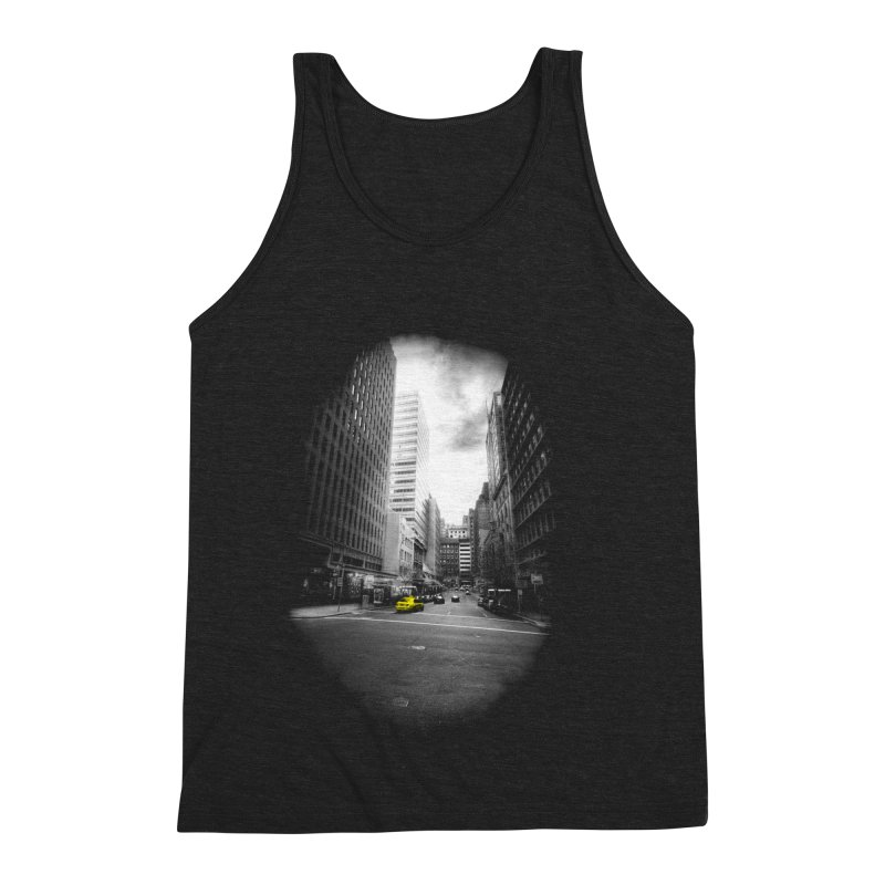 I could be anywhere in the world Men's Triblend Tank by jwoof's Artist Shop