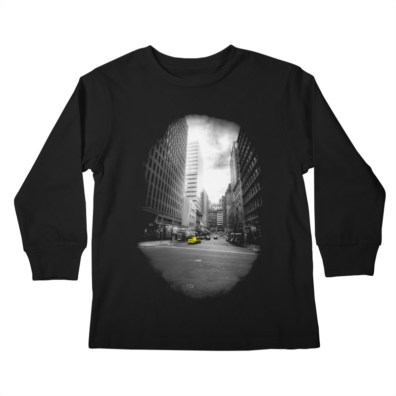 I could be anywhere in the world Kids Longsleeve T-Shirt by jwoof's Artist Shop