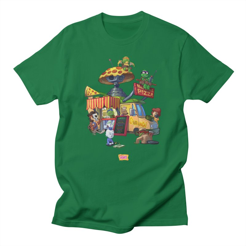 Half Shell Pizza Men's T-Shirt by JYK All Day