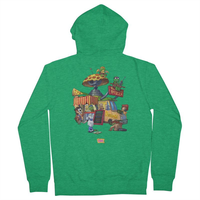 Half Shell Pizza Women's Zip-Up Hoody by JYK All Day