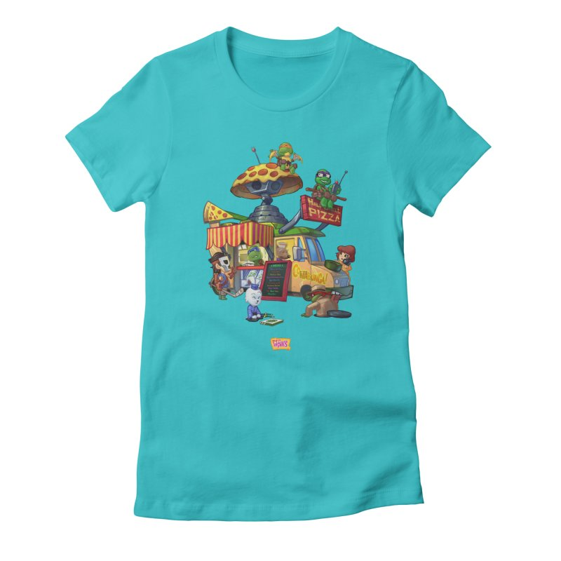 Half Shell Pizza Women's T-Shirt by JYK All Day