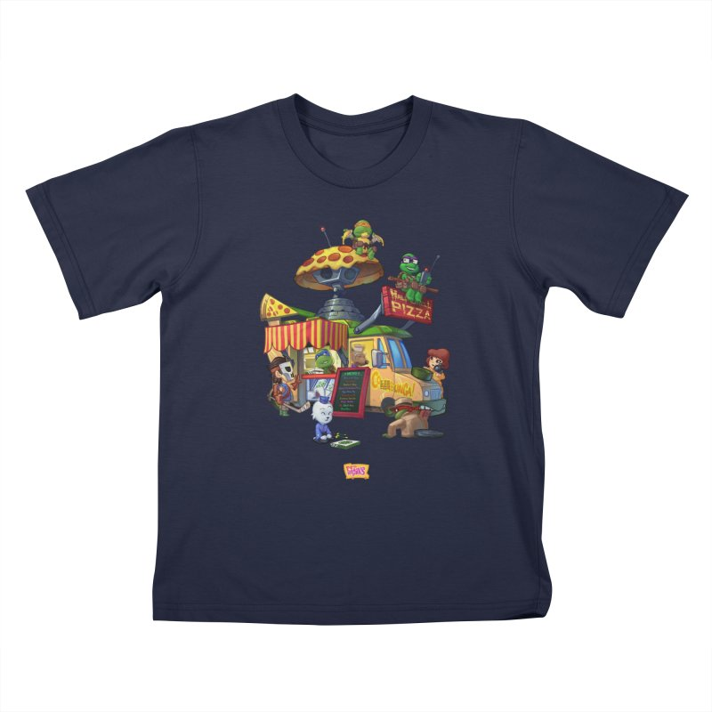 Half Shell Pizza Kids T-Shirt by JYK All Day