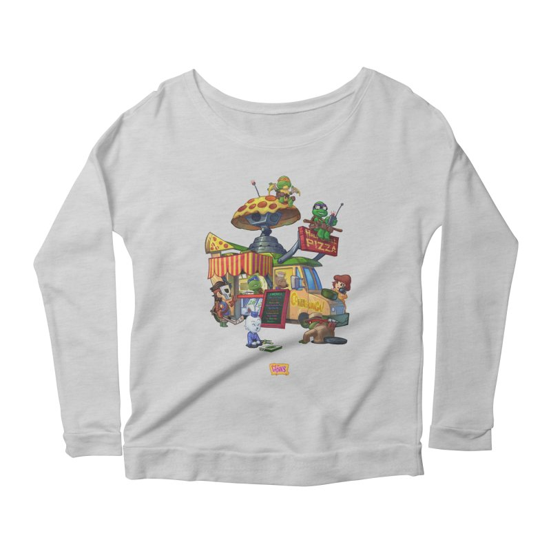 Half Shell Pizza Women's Longsleeve T-Shirt by JYK All Day