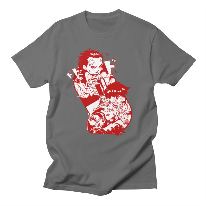Neo Bikers Red and White Men's T-Shirt by JYK All Day