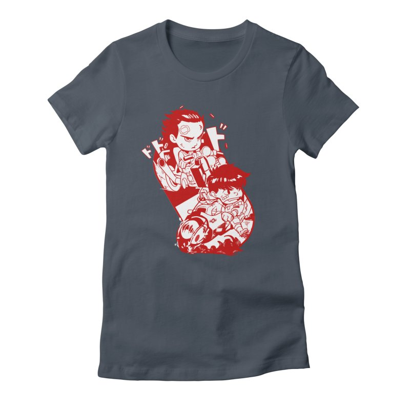 Neo Bikers Red and White Women's T-Shirt by JYK All Day