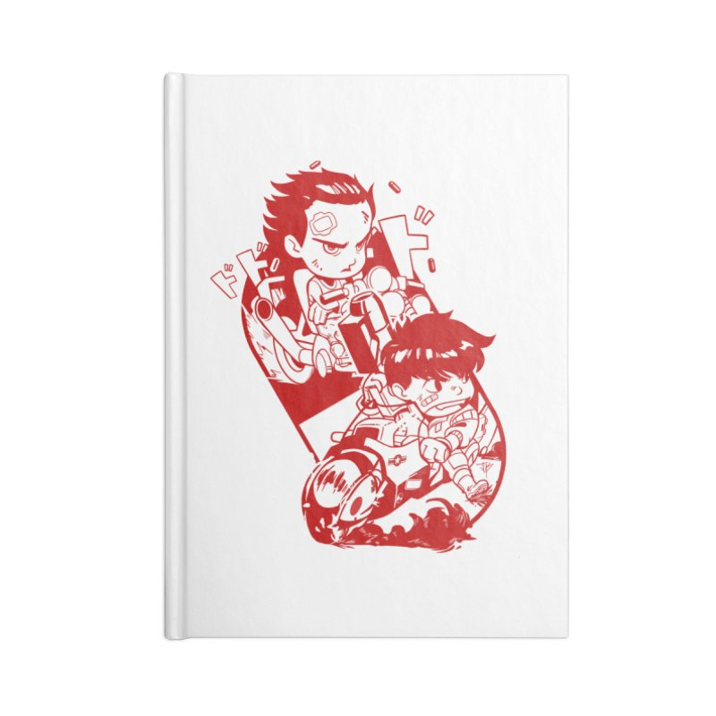 Neo Bikers Red and White Accessories Notebook by JYK All Day