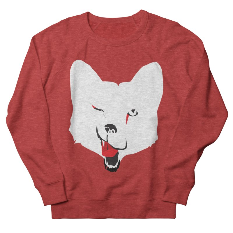 Lucky Fox in Women's French Terry Sweatshirt Heather Red by KaascaT-Shirts