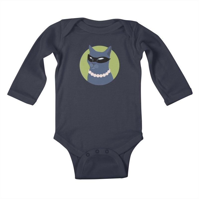Cat Woman Kids Baby Longsleeve Bodysuit by KaascaT-Shirts