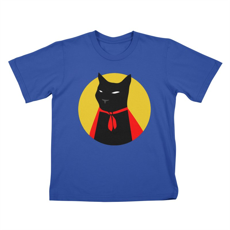 Supercat in Kids T-Shirt Royal Blue by KaascaT-Shirts