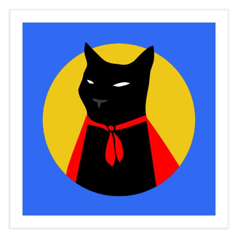 Supercat Home Fine Art Print by KaascaT-Shirts