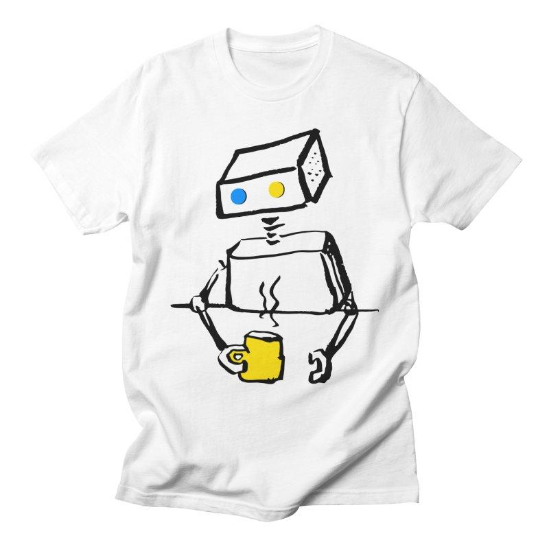Robot on Coffee Break Men's T-Shirt by KaascaT-Shirts