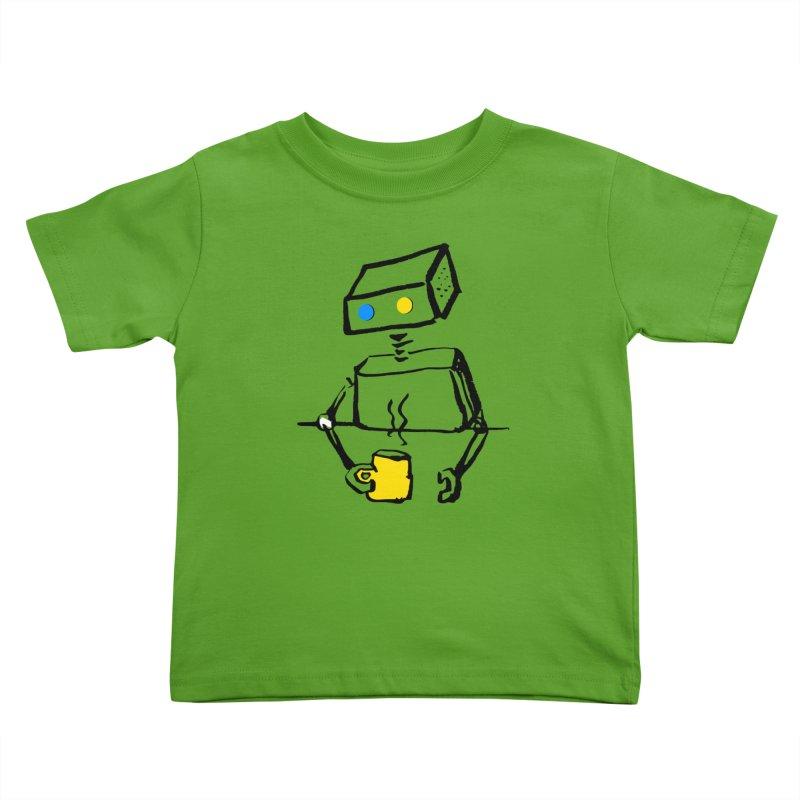 Robot on Coffee Break Kids Toddler T-Shirt by KaascaT-Shirts