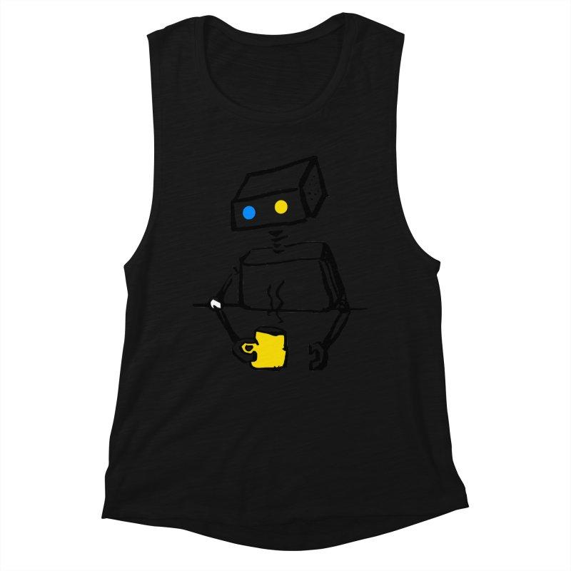 Robot on Coffee Break Women's Tank by KaascaT-Shirts