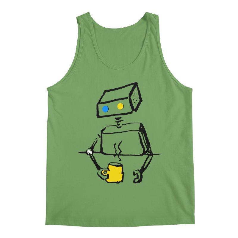 Robot on Coffee Break Men's Tank by KaascaT-Shirts