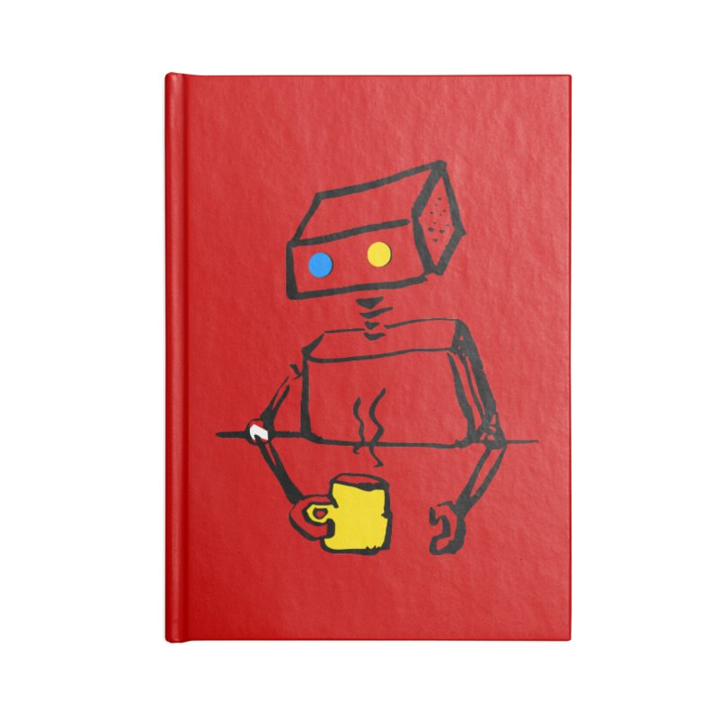 Robot on Coffee Break Accessories Notebook by KaascaT-Shirts
