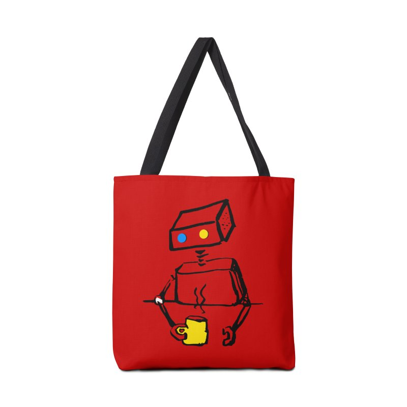 Robot on Coffee Break Accessories Bag by KaascaT-Shirts