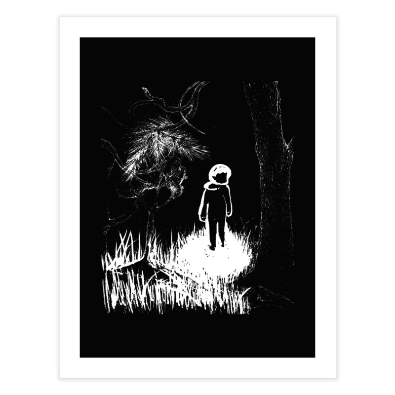Lost in the Woods Home Fine Art Print by KaascaT-Shirts