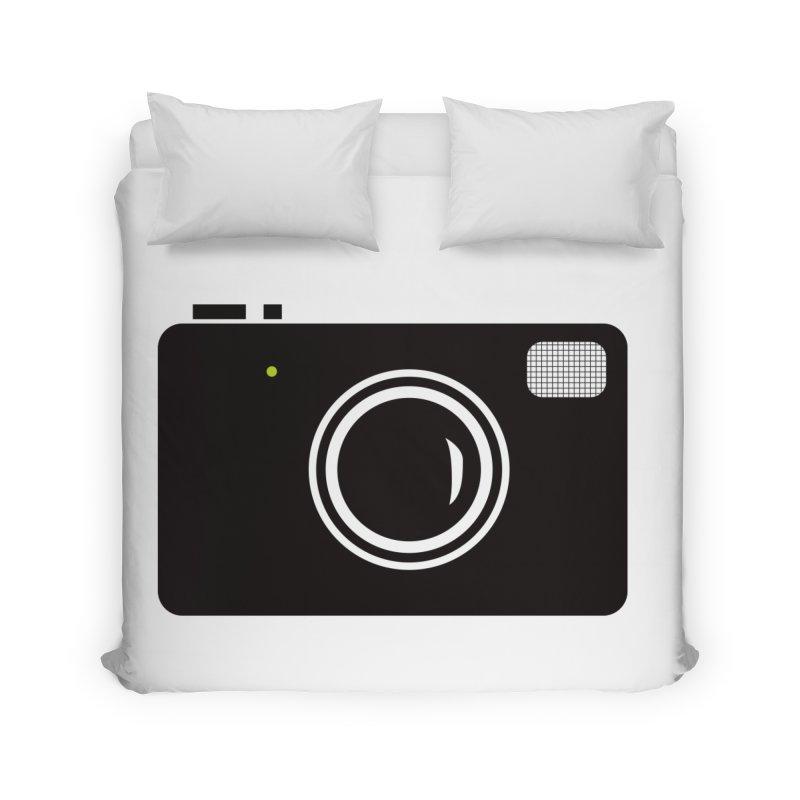 Retro Camera Home Duvet by KaascaT-Shirts