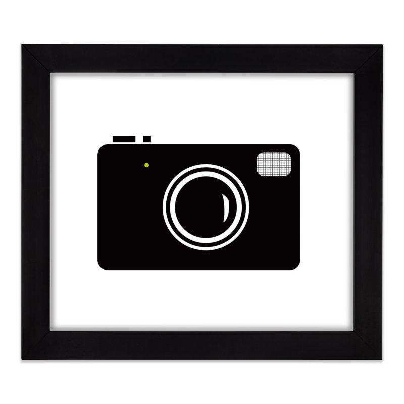 Retro Camera Home Framed Fine Art Print by KaascaT-Shirts