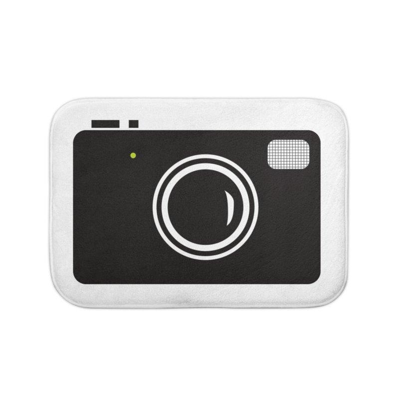 Retro Camera Home Bath Mat by KaascaT-Shirts