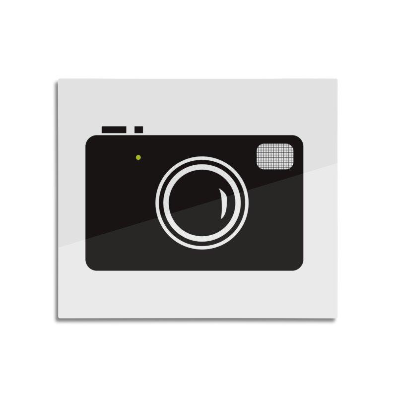 Retro Camera Home Mounted Aluminum Print by KaascaT-Shirts