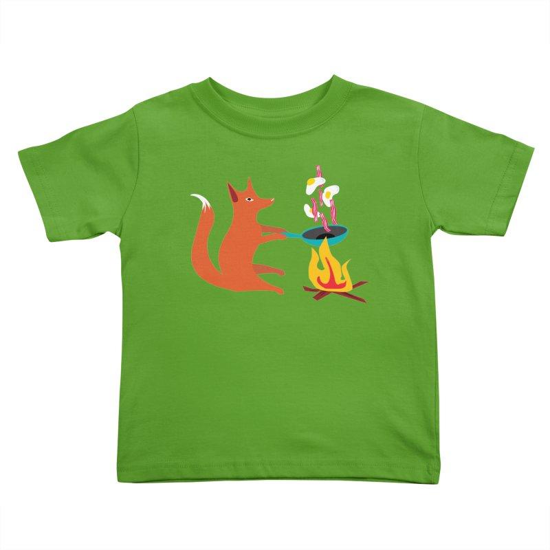 Foxy Cook Kids Toddler T-Shirt by KaascaT-Shirts