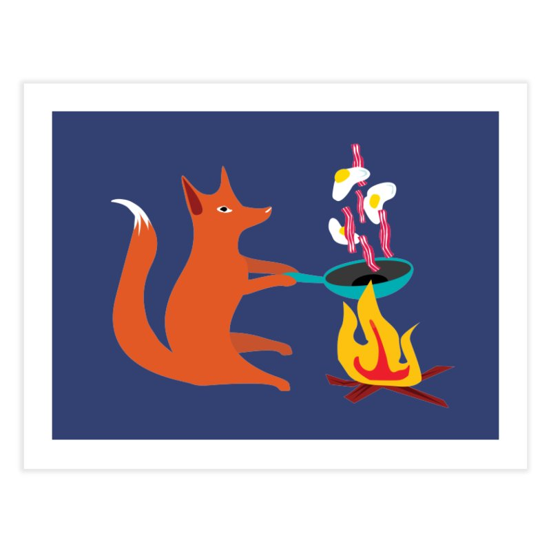 Foxy Cook Home Fine Art Print by KaascaT-Shirts