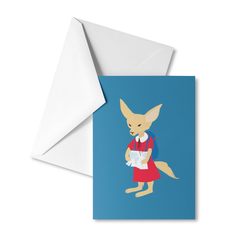 Fenneco's Journey Accessories Greeting Card by KaascaT-Shirts