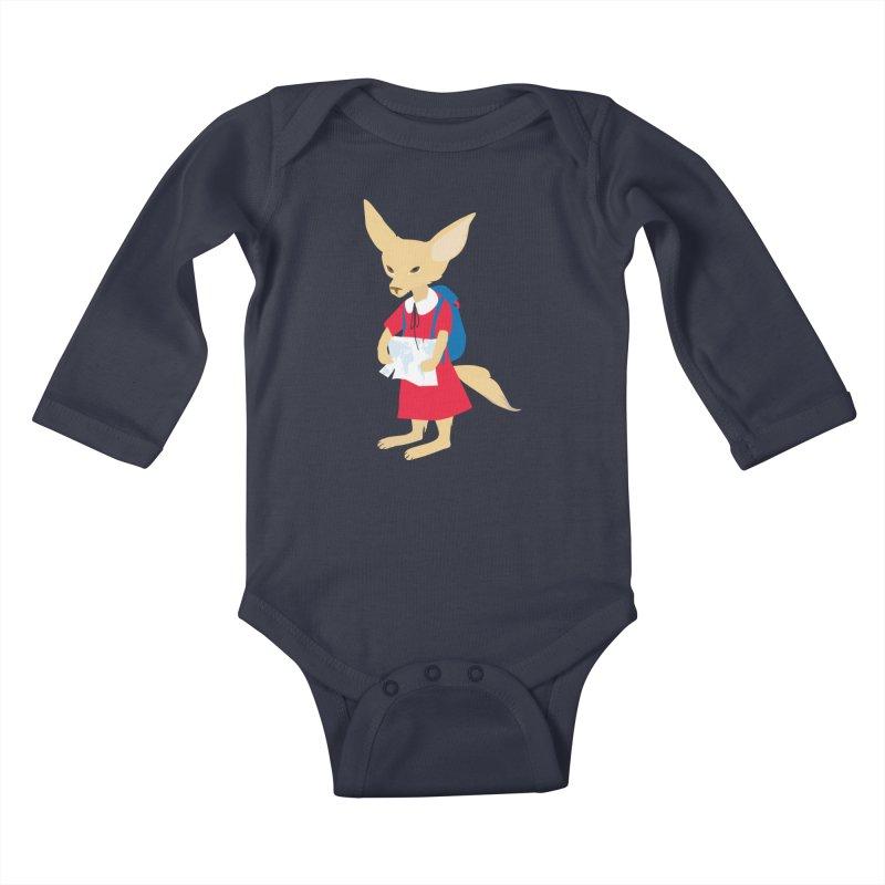Fenneco's Journey Kids Baby Longsleeve Bodysuit by KaascaT-Shirts