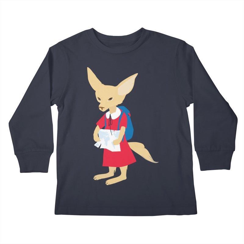 Fenneco's Journey Kids Longsleeve T-Shirt by KaascaT-Shirts