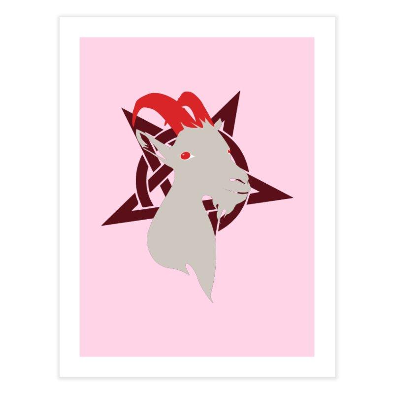Goatee 666 Home Fine Art Print by KaascaT-Shirts