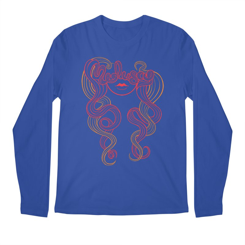 Medusa with type Men's Longsleeve T-Shirt by kaboodle's Artist Shop