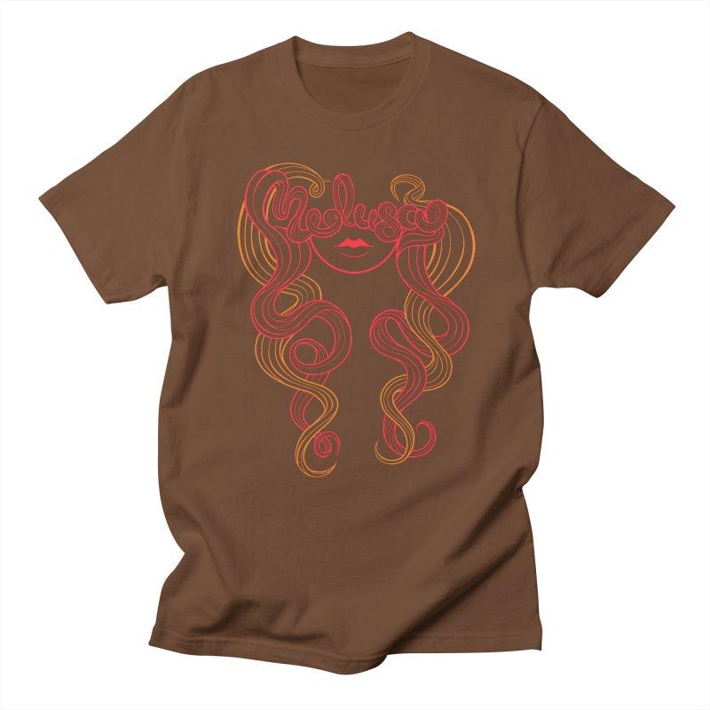 Medusa with type Men's T-shirt by kaboodle's Artist Shop