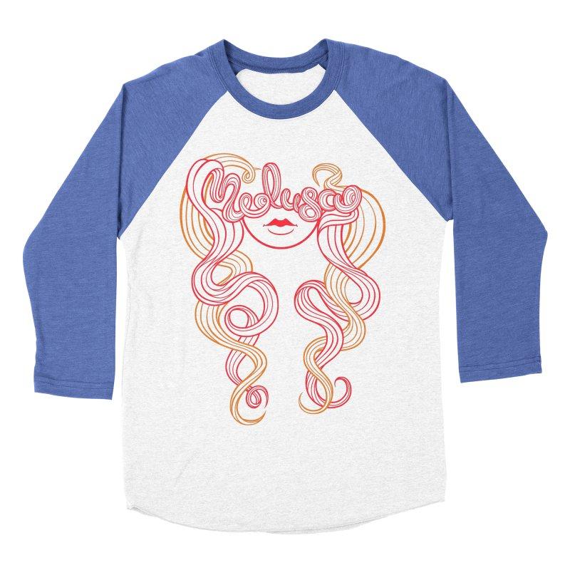 Medusa with type Women's Baseball Triblend T-Shirt by kaboodle's Artist Shop
