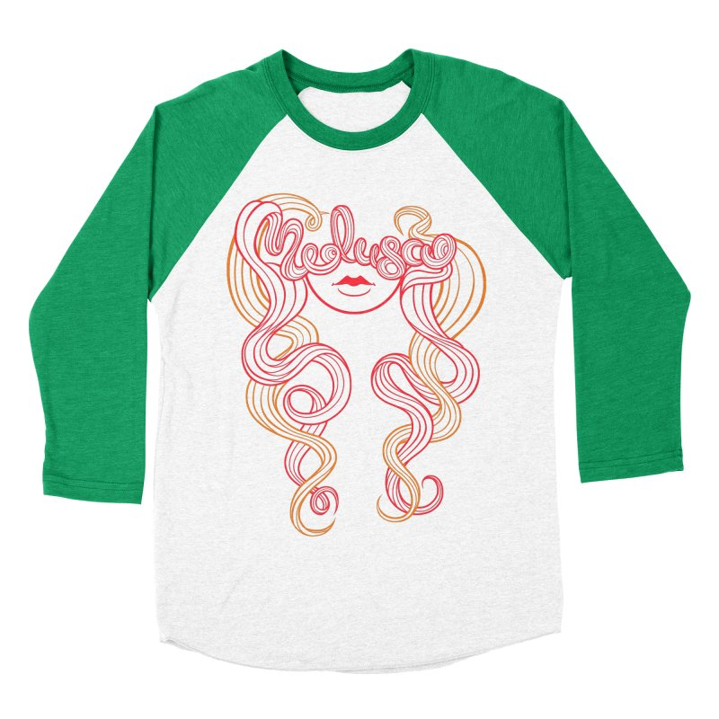 Medusa with type Women's Baseball Triblend T-Shirt by kaboodle's Artist Shop