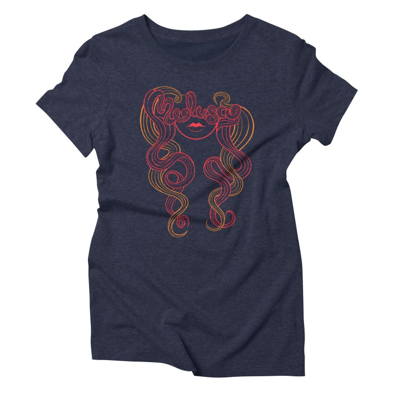 Medusa with type Women's Triblend T-Shirt by kaboodle's Artist Shop