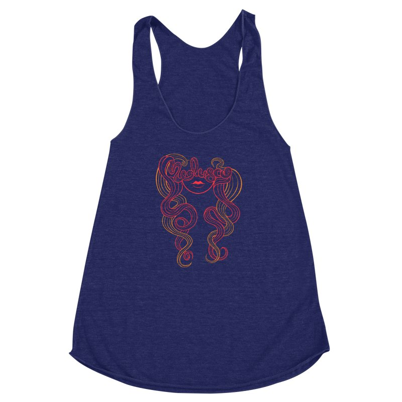 Medusa with type Women's Racerback Triblend Tank by kaboodle's Artist Shop