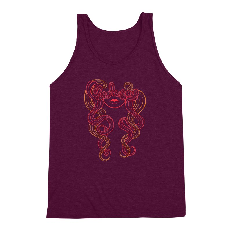 Medusa with type Men's Triblend Tank by kaboodle's Artist Shop