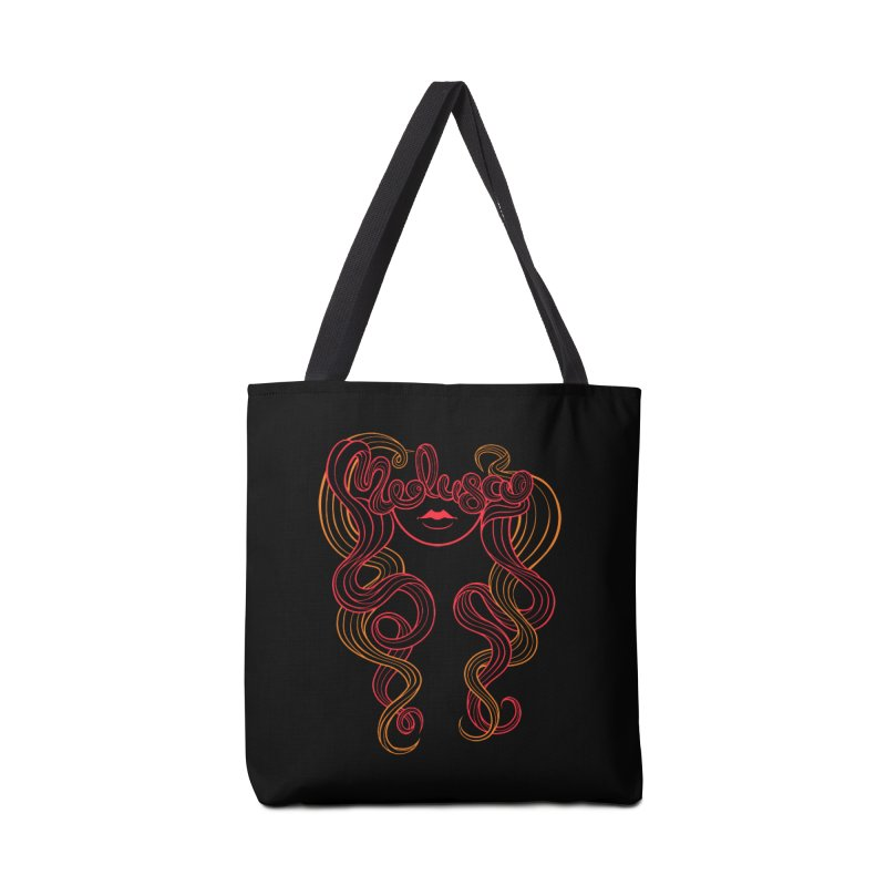 Medusa with type Accessories Bag by kaboodle's Artist Shop