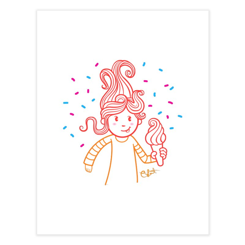FrostyCurl Home Fine Art Print by kaboodle's Artist Shop