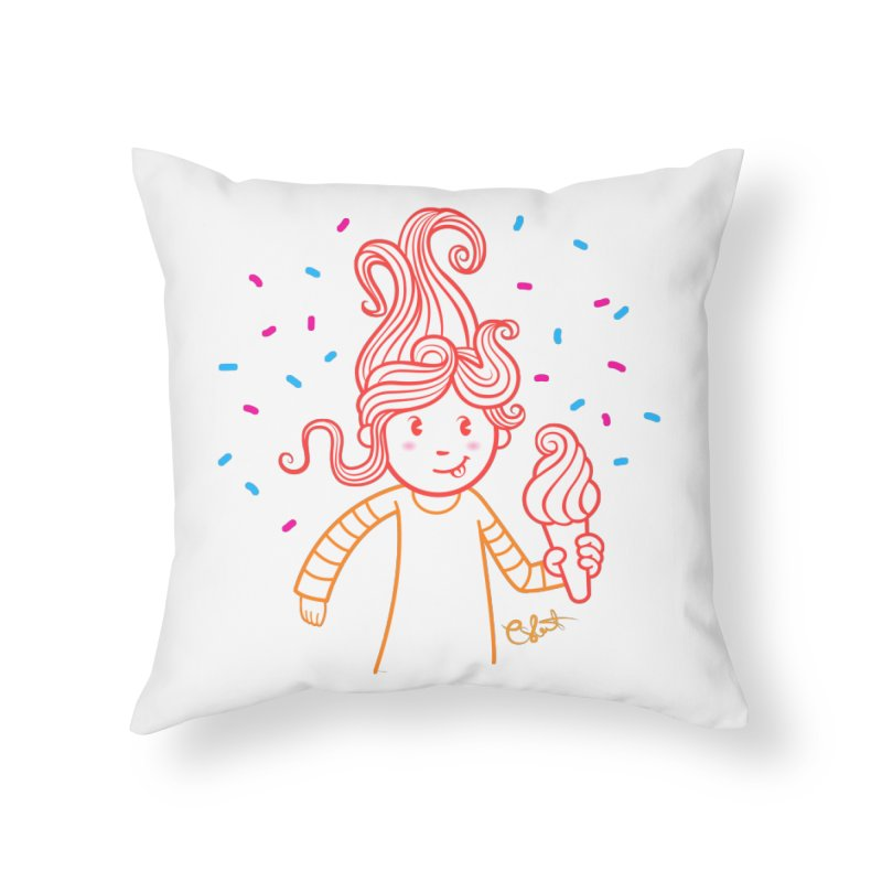 FrostyCurl Home Throw Pillow by kaboodle's Artist Shop