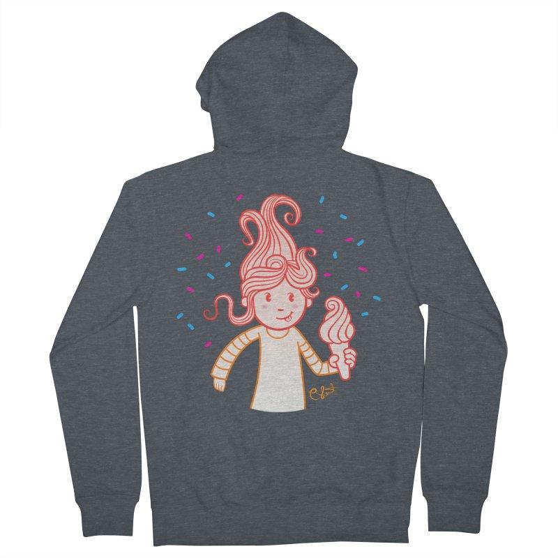 FrostyCurl Men's Zip-Up Hoody by kaboodle's Artist Shop