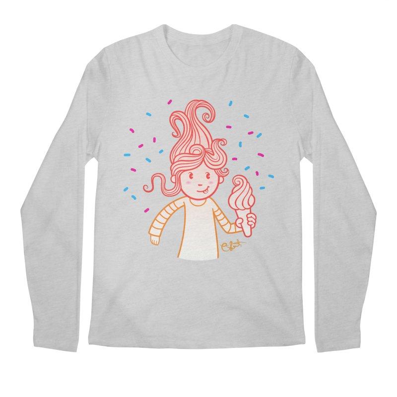 FrostyCurl Men's Longsleeve T-Shirt by kaboodle's Artist Shop