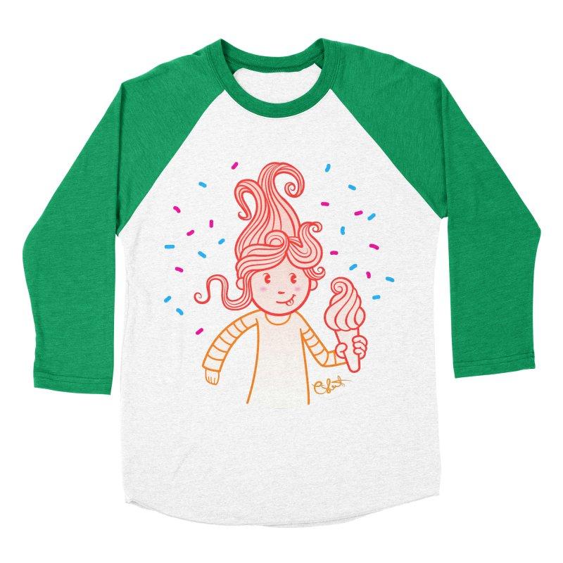 FrostyCurl Women's Baseball Triblend T-Shirt by kaboodle's Artist Shop