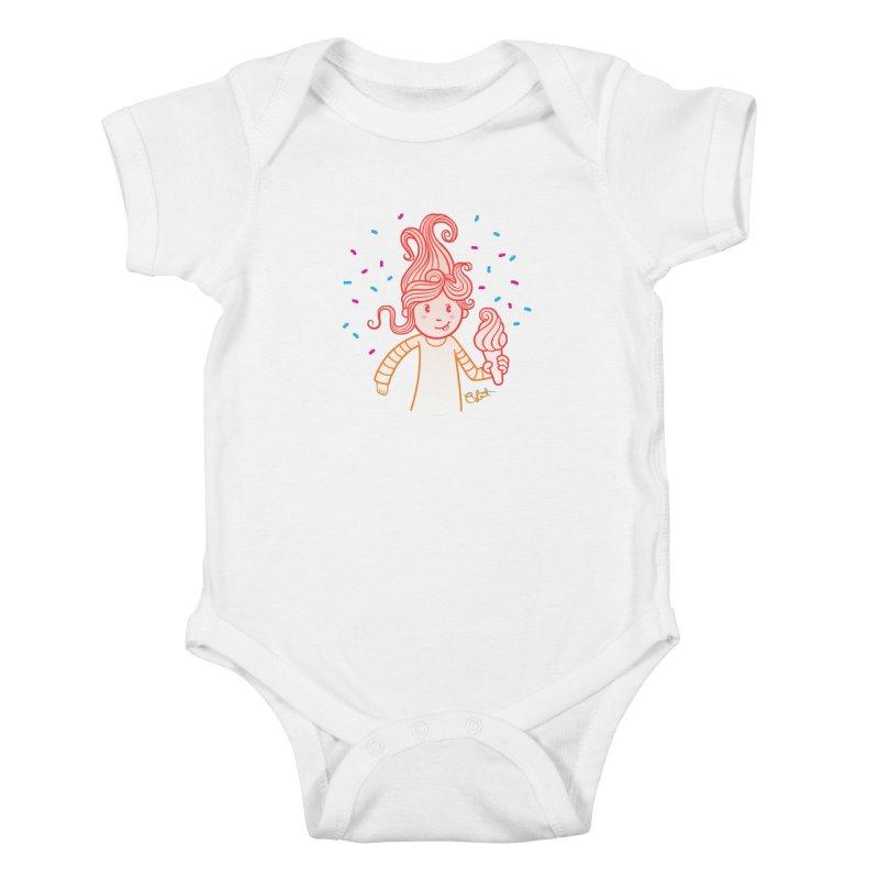 FrostyCurl Kids Baby Bodysuit by kaboodle's Artist Shop