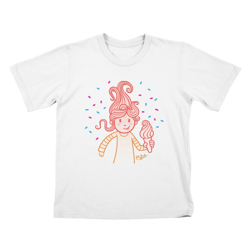 FrostyCurl Kids T-shirt by kaboodle's Artist Shop