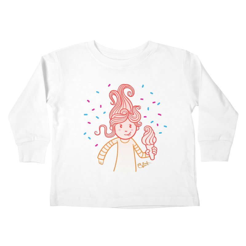 FrostyCurl Kids Toddler Longsleeve T-Shirt by kaboodle's Artist Shop