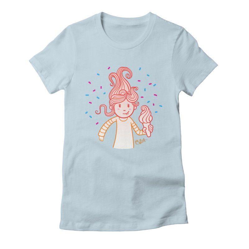 FrostyCurl Women's Fitted T-Shirt by kaboodle's Artist Shop